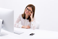 businesswoman-sitting-her-worplace-happy-office-49181959